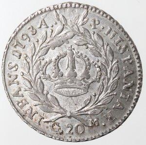 reverse: Napoli. Ferdinando IV. 1759-1799. Tari  1793. Ag.