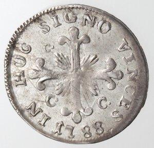 reverse: Napoli. Ferdinando IV. 1759-1799. Carlino 1788 SICILI. Ag.
