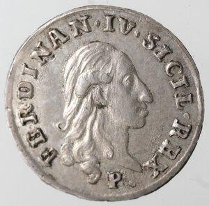 obverse: Napoli. Ferdinando IV. 1759-1799. Carlino 1798. Ag.