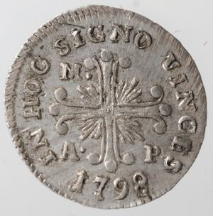 reverse: Napoli. Ferdinando IV. 1759-1799. Carlino 1798. Ag.