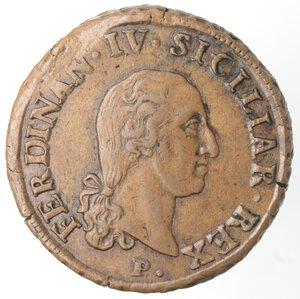 obverse: Napoli. Ferdinando IV. 1759-1798. 10 Tornesi1798. Ae.