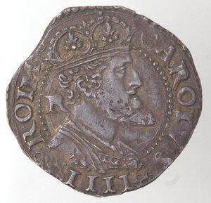 obverse: Napoli. Carlo V. 1516-1554. Carlino. Ag.