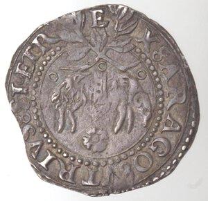 reverse: Napoli. Carlo V. 1516-1554. Carlino. Ag.