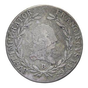 obverse: AUSTRIA FRANCESCO I 20 KREUZER 1811 B AG. 6,69 GR. MB+
