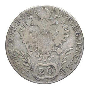 reverse: AUSTRIA FRANCESCO I 20 KREUZER 1811 B AG. 6,69 GR. MB+