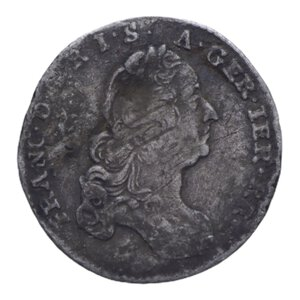 obverse: AUSTRIA FRANCESCO I 3 KREUZER 1765 AG. 1,58 GR. MB+