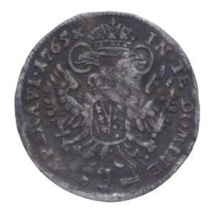 reverse: AUSTRIA FRANCESCO I 3 KREUZER 1765 AG. 1,58 GR. MB+