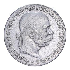 obverse: AUSTRIA FRANCESCO GIUSEPPE I 5 CORONA 1900 AG. 23,80 GR. BB