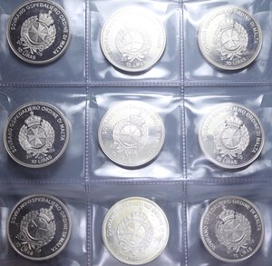 MALTA SOVRANO OSPEDALIERO ORDINE LOTTO 9 MONETE 10 LIRAS 2005 NI PROOF