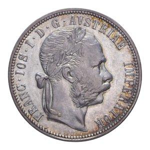 obverse: AUSTRIA FRANCESCO GIUSEPPE I 1 FLORIN 1882 AG. 12,30 GR. BB+