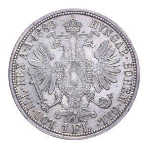 reverse: AUSTRIA FRANCESCO GIUSEPPE I 1 FLORIN 1889 AG. 12,36 GR. SPL