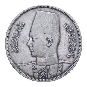 obverse: EGITTO FAROUK 10 PIASTRE 1939 AG. 13,86 GR. BB/BB+