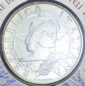 obverse: 10000 LIRE 1996 PROCLAMAZIONE REPUBBLICA AG. 22 GR. IN FOLDER FDC
