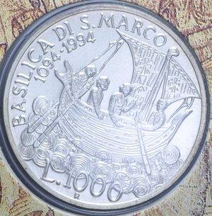 reverse: 1000 LIRE 1994 ANNO MARCIANO AG. 14,6 GR. IN FOLDER FDC