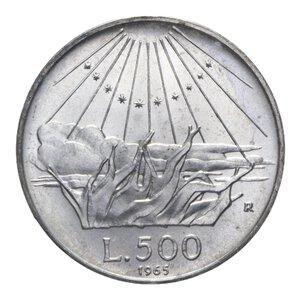 reverse: 500 LIRE 1965 DANTE AG. 11,02 GR. FDC