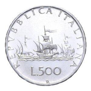 reverse: 500 LIRE 1970 CARAVELLE AG. 11,00 GR. FDC