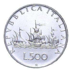 reverse: 500 LIRE 1980 CARAVELLE AG. 11,05 GR. FDC