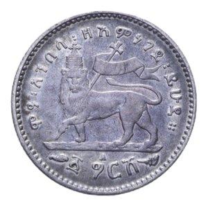 reverse: ETIOPIA MENELIK II GERSH 1895 A AG. 1,36 GR. BB/BB+