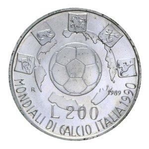 reverse: 200 LIRE 1989 MONDIALI CALCIO AG. 5 GR. FDC