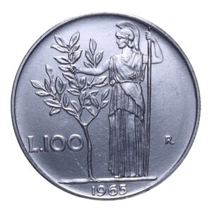 reverse: 100 LIRE 1965 MINERVA 7,99 GR. FDC