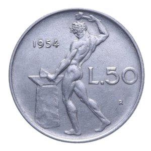reverse: 50 LIRE 1954 VULCANO AC 6,36 GR. SPL