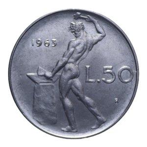 reverse: 50 LIRE 1963 VULCANO AC 6,30 GR. FDC