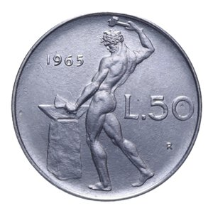 reverse: 50 LIRE 1965 VULCANO AC 6,32 GR. qFDC