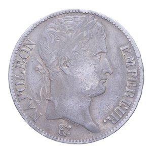 obverse: FRANCIA NAPOLEONE IMPERATORE 5 FRANCHI 1809 B AG. 24,46 GR. BB