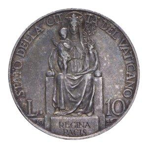reverse: PIO XI (1929-1938) 10 LIRE 1935 AG. 10,06 GR. BB+