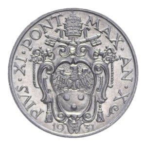 obverse: PIO XI (1929-1938) 20 CENT. 1931 NI 4,07 GR. FDC