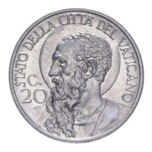 reverse: PIO XI (1929-1938) 20 CENT. 1931 NI 4,07 GR. FDC