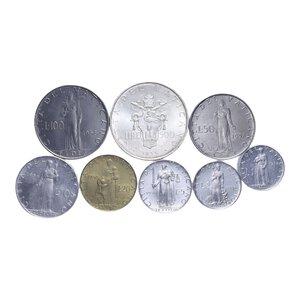 reverse: PIO XII (1939-1958) SERIE 8 VALORI 1958 CON 500 LIRE AG. SENZA FOLDER FDC (ALCUNE PATINATE)
