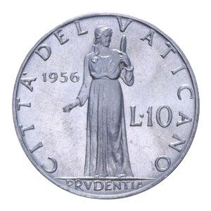 reverse: PIO XII (1939-1958) 10 LIRE 1956 1,6 GR. FDC