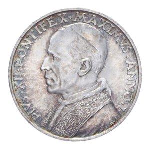 obverse: PIO XII (1939-1958) 5 LIRE 1939 AG. 5 GR. FDC