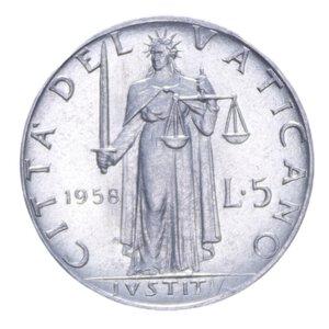 reverse: PIO XII (1939-1958) 5 LIRE 1958 1 GR. FDC