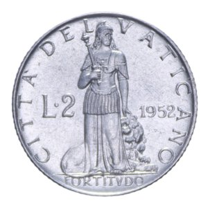 reverse: PIO XII (1939-1958) 2 LIRE 1952 0,80 GR. qFDC