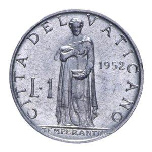 reverse: PIO XII (1939-1958) 1 LIRA 1952 0,62 GR. FDC
