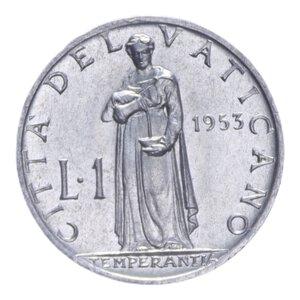 reverse: PIO XII (1939-1958) 1 LIRA 1953 0,62 GR. FDC