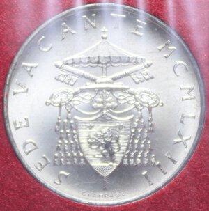 obverse: SEDE VACANTE 500 LIRE 1963 AG. 11 GR. IN FOLDER FDC