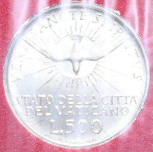 reverse: SEDE VACANTE 500 LIRE 1963 AG. 11 GR. IN FOLDER FDC