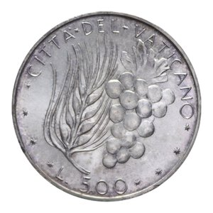 reverse: PAOLO VI (1963-1978) 500 LIRE 1971 AG. 11 GR. FDC