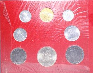 obverse: PAOLO VI (1963-1978) SERIE 8 VALORI 1964 CON 500 LIRE AG. IN FOLDER FDC
