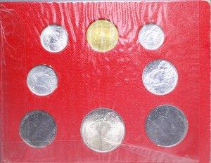 obverse: PAOLO VI (1963-1978) SERIE 8 VALORI 1966 CON 500 LIRE AG. IN FOLDER FDC