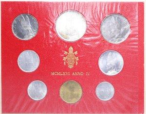 reverse: PAOLO VI (1963-1978) SERIE 8 VALORI 1966 CON 500 LIRE AG. IN FOLDER FDC