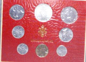 reverse: PAOLO VI (1963-1978) SERIE 8 VALORI 1975 CON 500 LIRE AG. IN FOLDER FDC