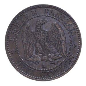 reverse: FRANCIA NAPOLEONE III 2 CENT. 1855 A CU 1,98 GR. qSPL