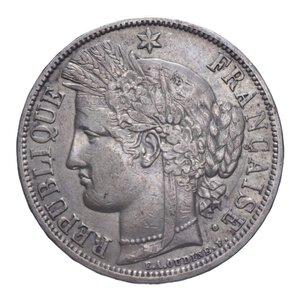 obverse: FRANCIA REPUBBLICA 5 FRANCHI 1870 K AG. 24,96 GR. BB+