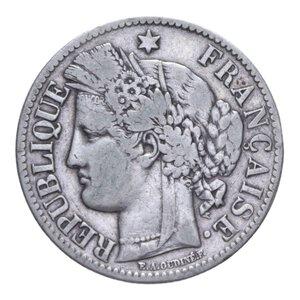 obverse: FRANCIA REPUBBLICA 2 FRANCHI 1887 A AG. 9,79 GR. BB