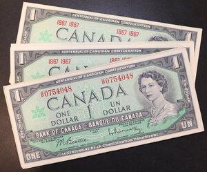 reverse: CANADA 1 DOLLARO 1967 LOTTO 26 PEZZI DAL BB+ AL FDS
