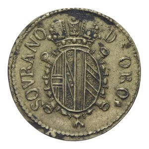 reverse: PESO MONETALE SOVRANO D ORO 11,14 GR. BB+